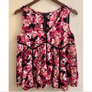 Jessica Simpson Floral Babydoll Tank Top S…